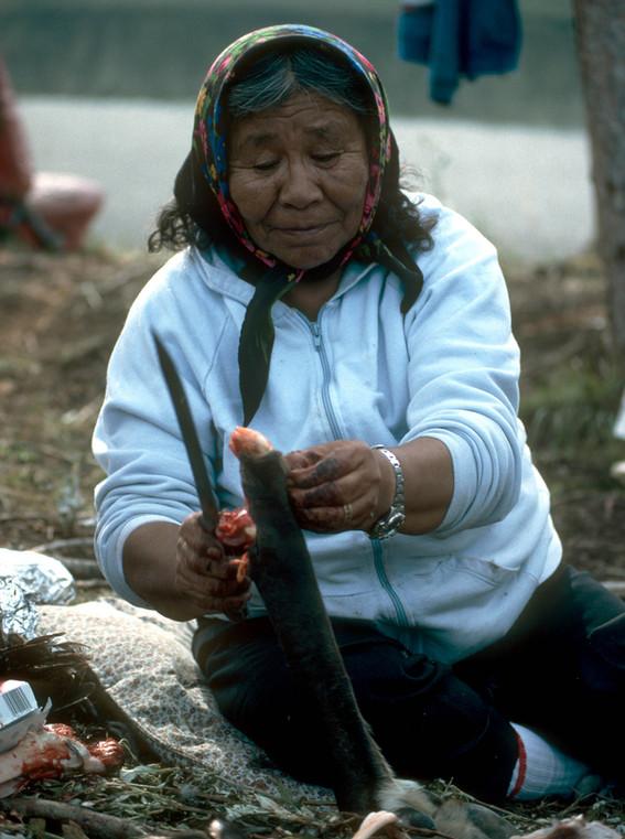 Gwich'in elder in camp