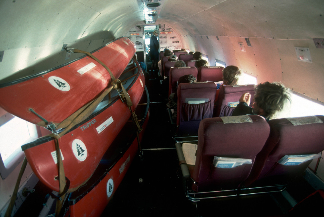 AAM.Canoes inside DC3 to Inuvik