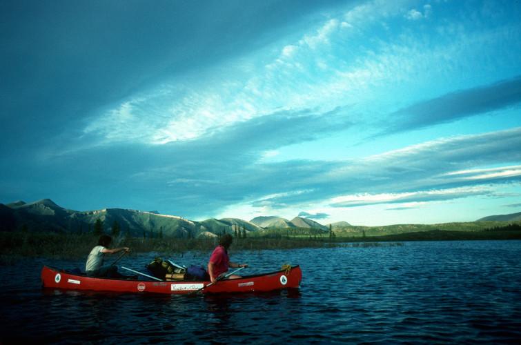 Ogilvie Lake sunset