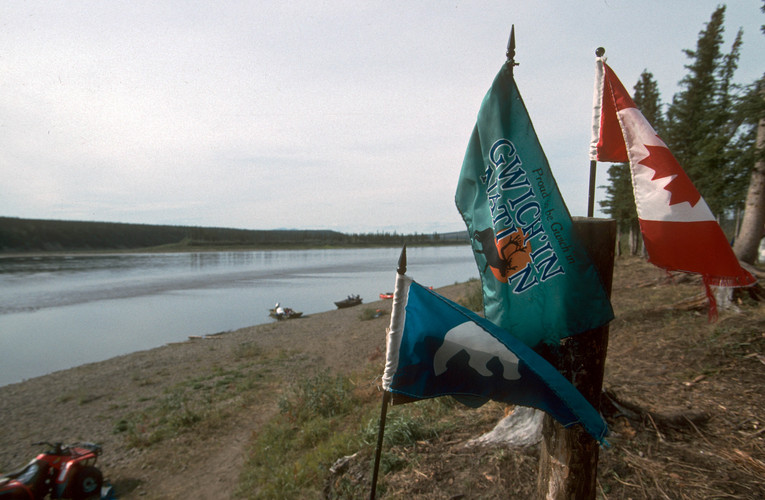 Gwich'in flag on Porcupine R.