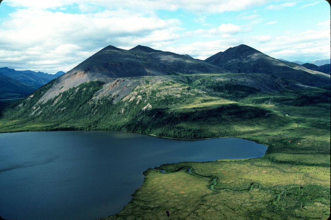 Summit Lake view - tiny tents