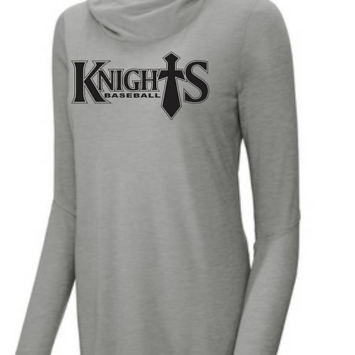 Geauga Knights ladies tri blend hoodie