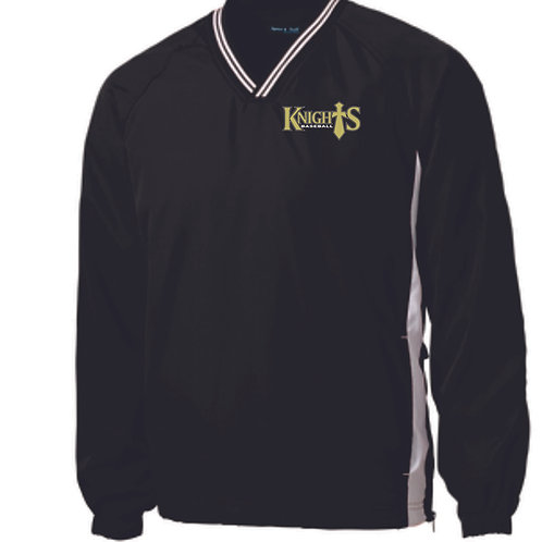 Geauga Knights Vneck WindShirt pullover