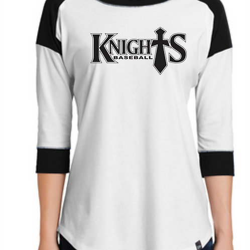 Geauga Knights Ladies baseball tee