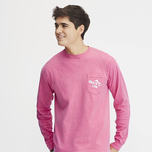 Great Life Pigment Dyed LONG Sleeve Pocket Tee