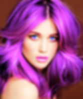 paars/roze haar