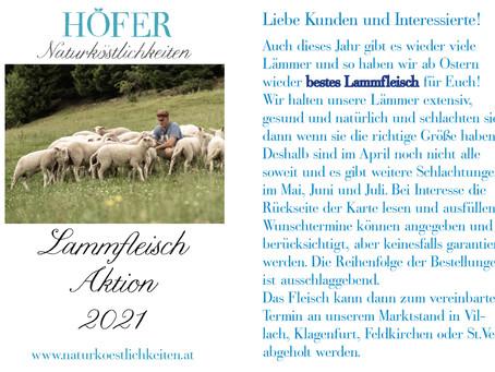 Es gibt wieder Lammfleisch: