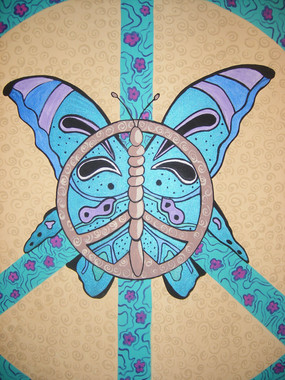 Butterfly Peace Sign