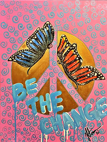 Be The Change, Butterfly Artwork