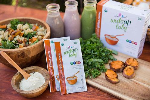 6pk Organic Quinoa Cereal - WutsupBaby Original Quinoa Cereal Pouches (8 Count)