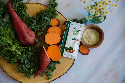 6pk Organic Quinoa Cereal - WutsupBaby Quinoa Cereal Pouches, Kale&SwPo (8Count)