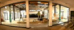 Custom Interior Minimalist Steel and glass entrance