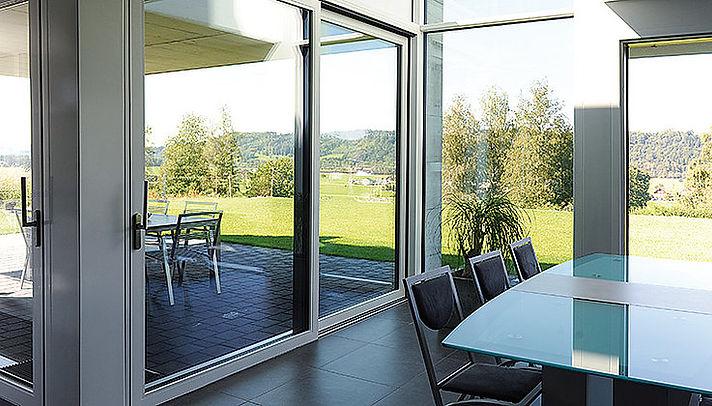 Jansen Lift Slide Steel Door Available With IQ Radiant Glass