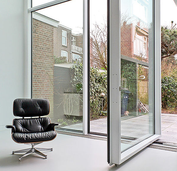IQ Radiant Glass Floor to Ceiling Pivot Doors