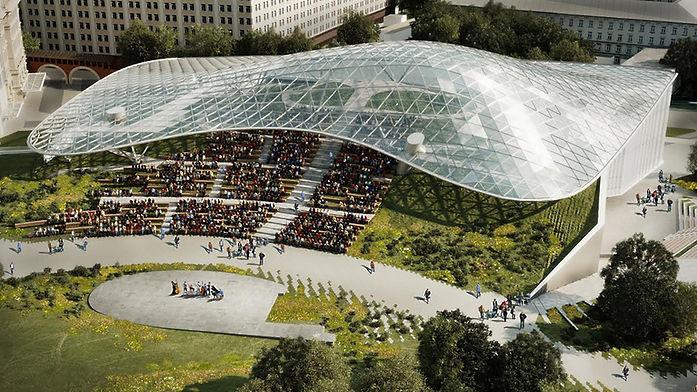 Exterior Steel  & Glass Canopies