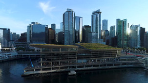 Vancouver Convention Centre Stock Footag
