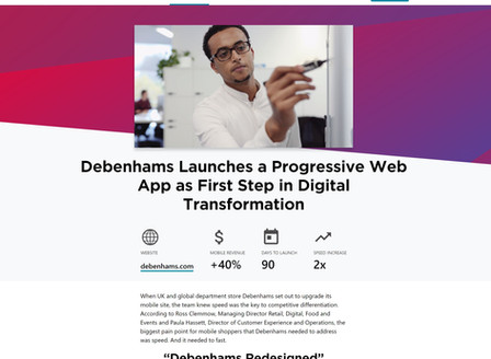 Debenhams Launches a Progressive Web App as First Step in Digital Transformation