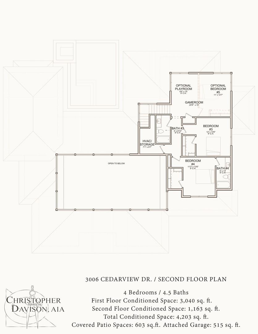 3006 Cedarview Dr Second Floor Plan