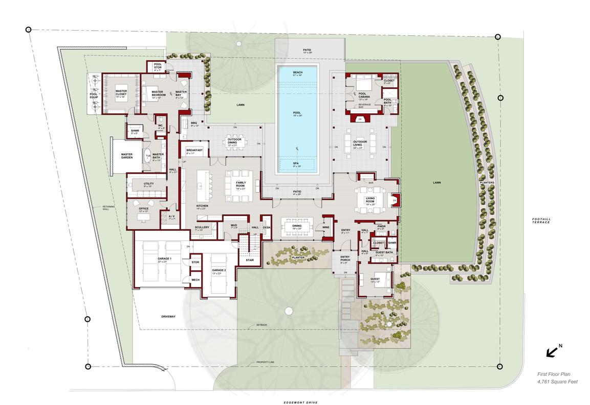 3601 Edgemont Dr First Floor Plan