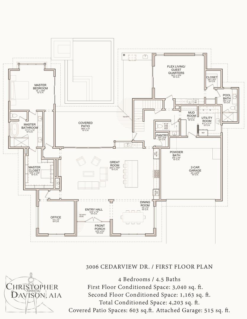 3006 Cedarview Dr First Floor Plan