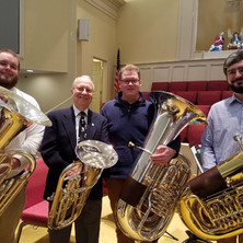 With Jimmie Self, Nolan Derrick, and Travis Roberson. Jimmie was my first tuba teacher!