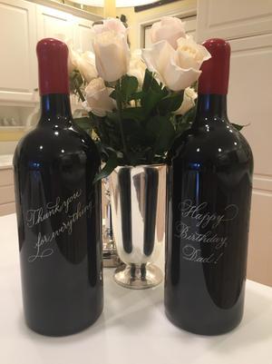 Engraved Magnum Wine Bottles