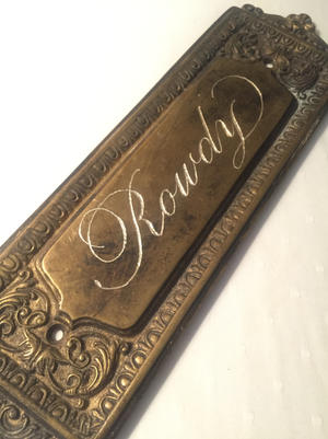 Custom Brass Name Plate