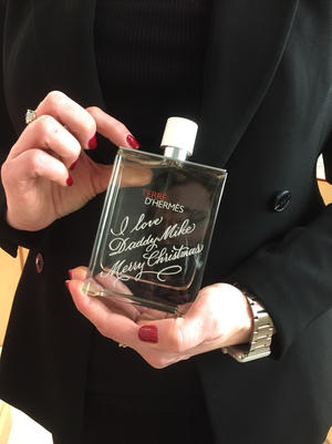 Hermes fragrance engraving event in Seattle
