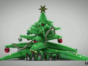 My 3d fluffy Christmas tree