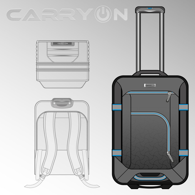 Carry-On Trolley Backpack