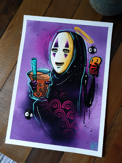No Face and Bubble Tea