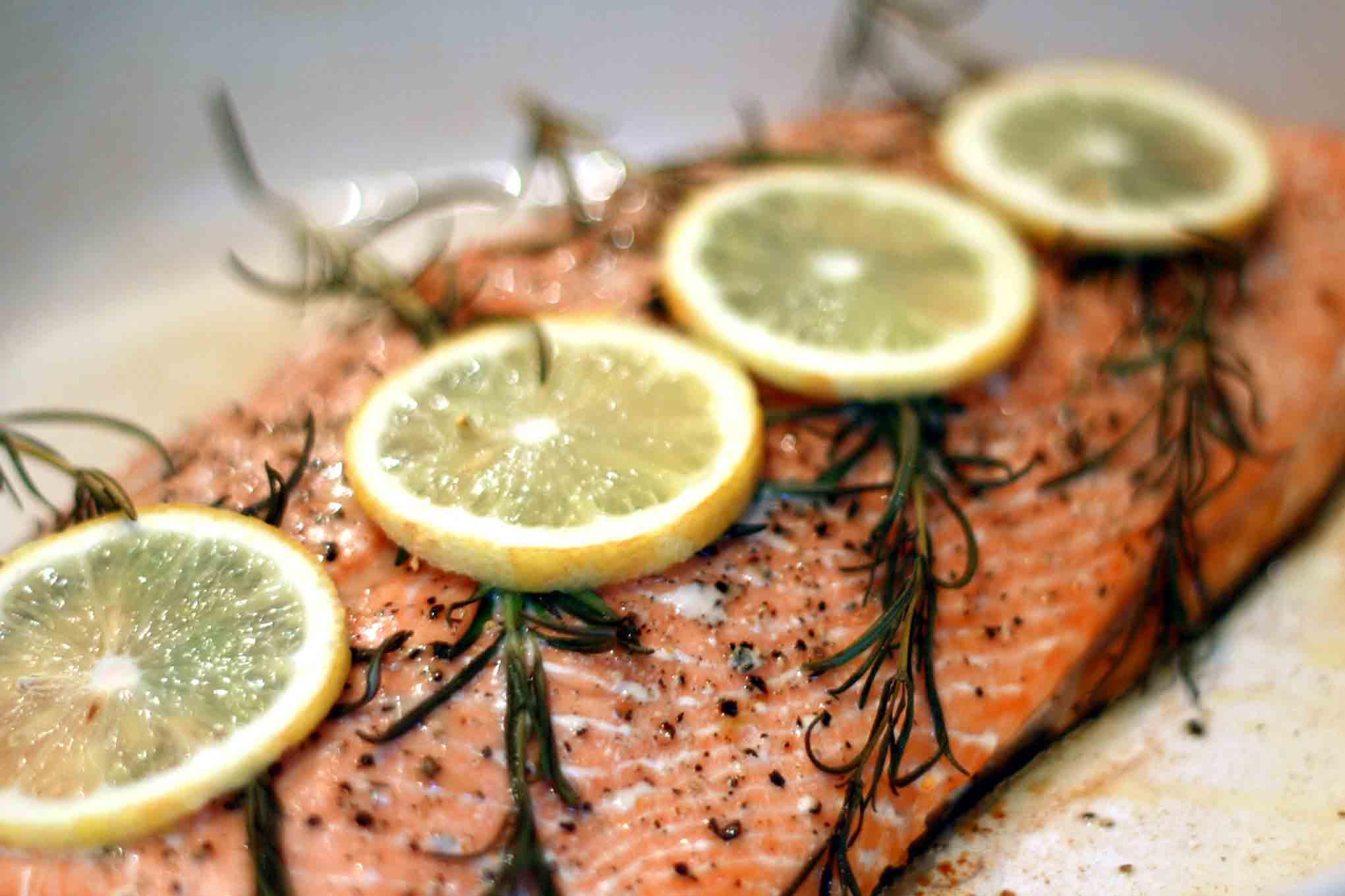 Terentino's Salmon Entree