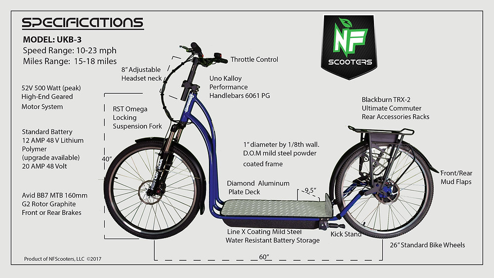 nfscooter spec sheet