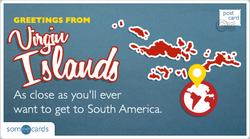 Someecards- Virgin Islands Postcard