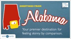 Someecards- Alabama Postcard