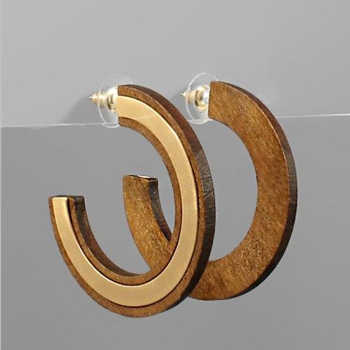 Wood & Metal Open Hoops
