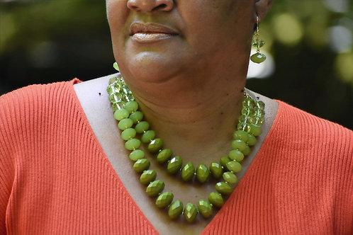 Olive Green Necklace Set