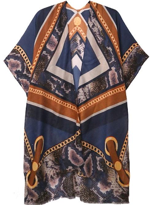 Blue Cover up shaw kimono