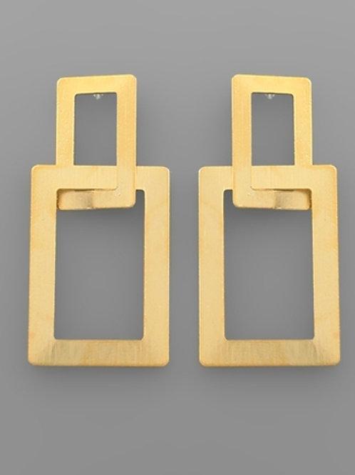 Rectangle Link Earrings