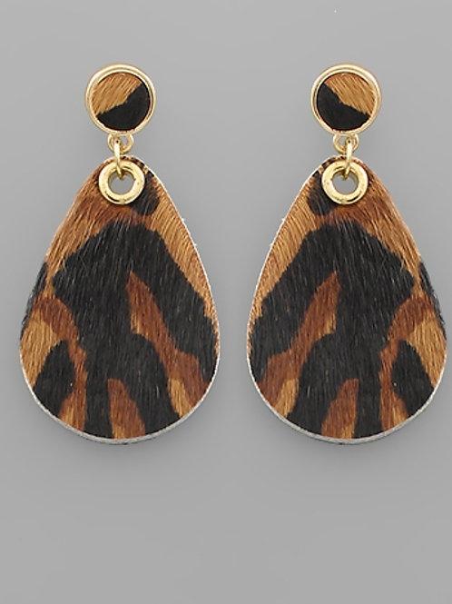 Tiger Teardrop Earrings