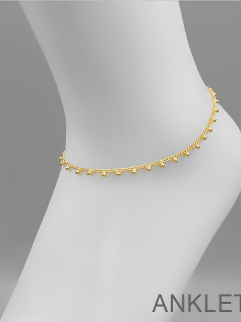 Ball Charm Chain Anklet