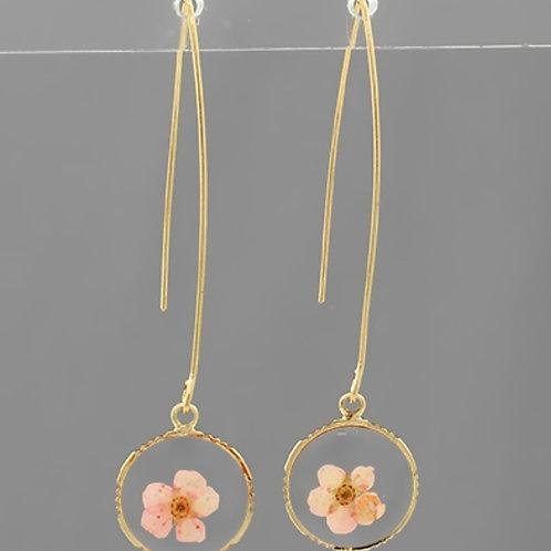 Blush Pressed Blossom Earrings