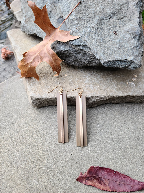 Bar Accent Painted Earrings