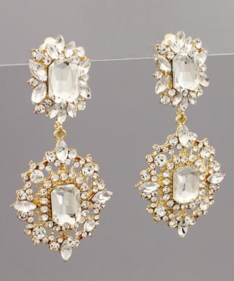 Double Marquise Rectangle Earrings