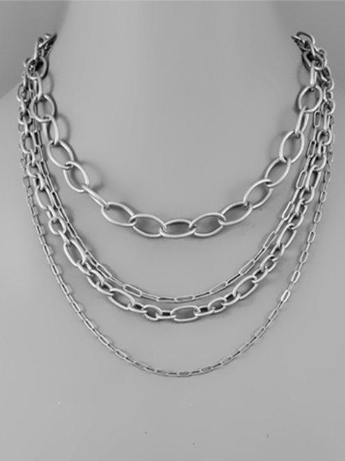 Gabby 4 Layer Chain Necklace