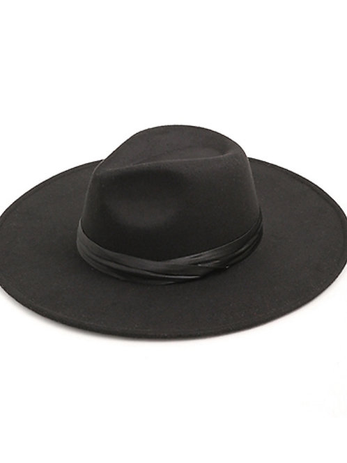 Crossed Satin Band Fedora