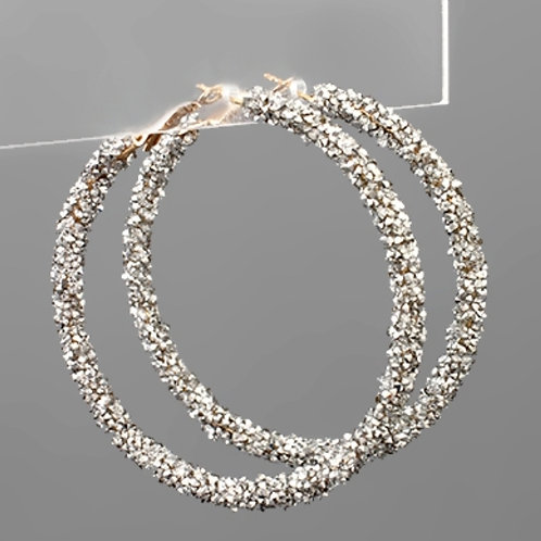 Crystal Cluter Hoops