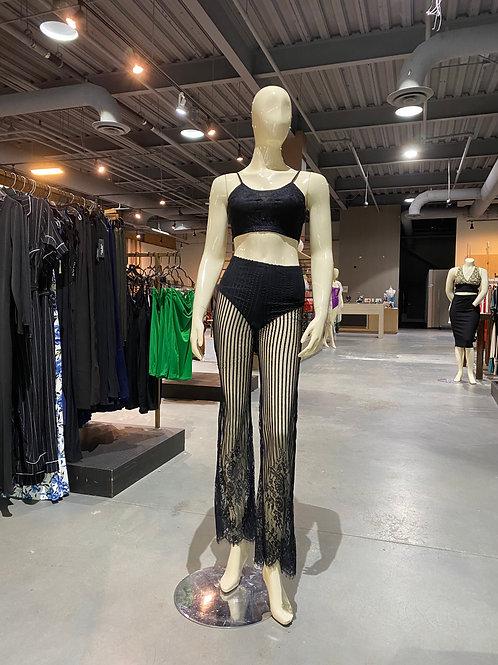 Black lace Summer set
