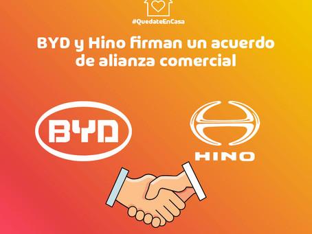 Hino y BYD firman un acuerdo de alianza comercial estratégica