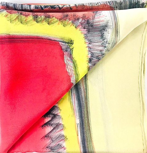 Esther Ojeda- Foulard Red/yellow